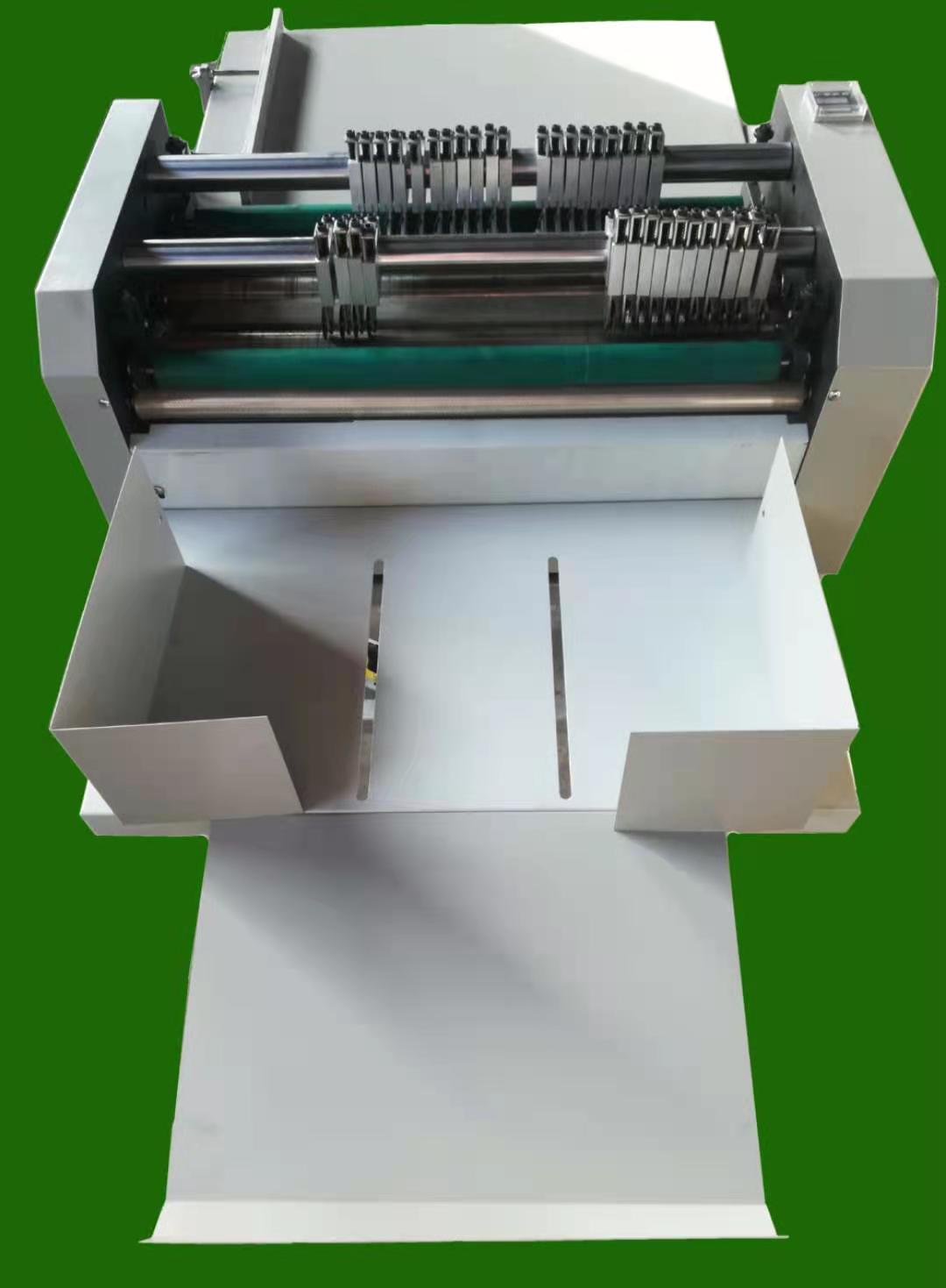 手续纸双刀双胶棍压线机